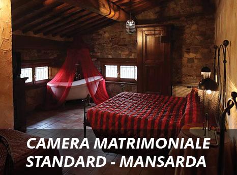 Camera Matrimoniale In Mansarda.Camera Matrimoniale Standard Hotel Medievale Villa Corte Degli Dei
